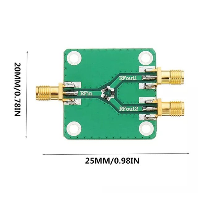 US $2 11 15% OFF|1PCS DC 5G RF Microwave Resistor Power Distributor Module  Microwave Power Splitter Radio Frequency Divider-in Operational Amplifier