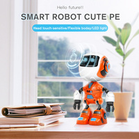 Electronic Smart Cute Sound Robot LED Eyes Head Touch Sensitive Flexible Hand Shock Resistance Body Kids