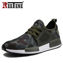 REETENE 2019 Men Shoes Summer Sneakers Breathable Casual Shoes Breathable Fashion Lace Up Mens Mesh Flats Shoe Men Sneakers