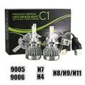 2x H4 H7 H8/H9/H11 9005 9006 30W 3000LM Auto COB LED Headlights Kit Bulb Head Lamp Fog Light White 6000K DC 12V Car Light Sourse