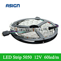 Led Strip 5050 No Waterproof SMD 60led/m 5m/lot  300leds Strip Light Flexible RGB Blue White Green Red Warm white Yellow