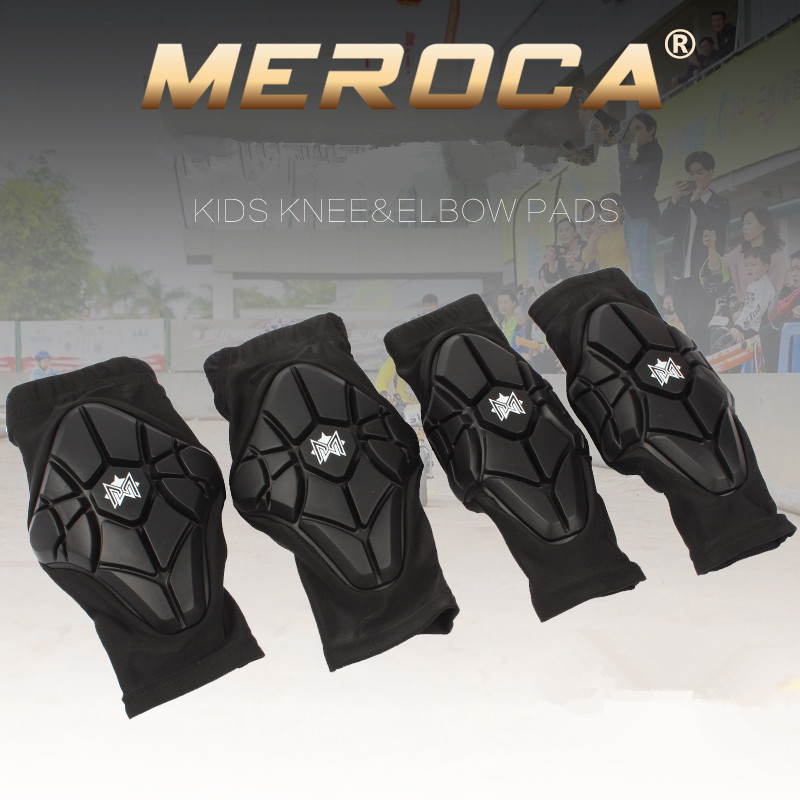 MEROCA Kid's safe children balance bike protect set elbow knee pads slide bicycle riding roller skating sports soft protect gear spakct cycling bike children elbow pads knee pads silicone gel elbow protect cover sport safety pulley bicycle knee pads support