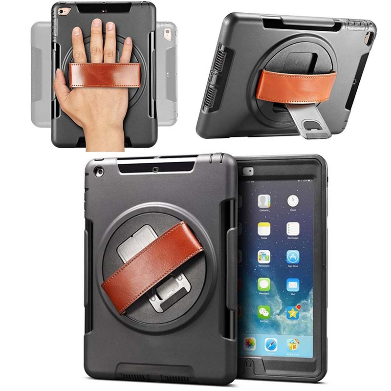 360 Degree Rotating Cover Case For Apple iPad Mini 4 Smart Back Cover Stand ShockProof Hybrid Heavy Duty mini 4 heavy duty shockproof case hybrid silicone plastic back cover for ipad mini 4 tablet stand cover 7 9 for ipad mini 4