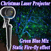 Открытый праздник рождественские украшения сада лазерной Космос лазерный проектор звезд зеленый синий mix статического эффекта свет Водоне