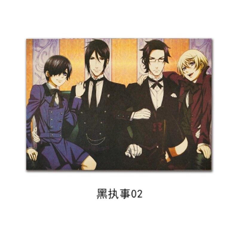 WXH,Black Butler B style/ Japanese Cartoon Comic/kraft paper/Wall stickers/bar poster/Retro Poster/decorative painting 51x35.5cm