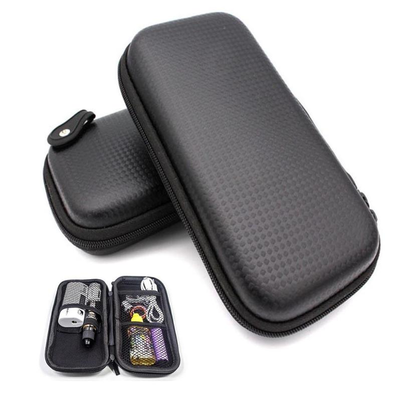 2018 EVA Bag Box Portable Earphone Accessories Carrying Bags Black Earphone Bag Case Zipper Earbuds Headset Headphone Storage