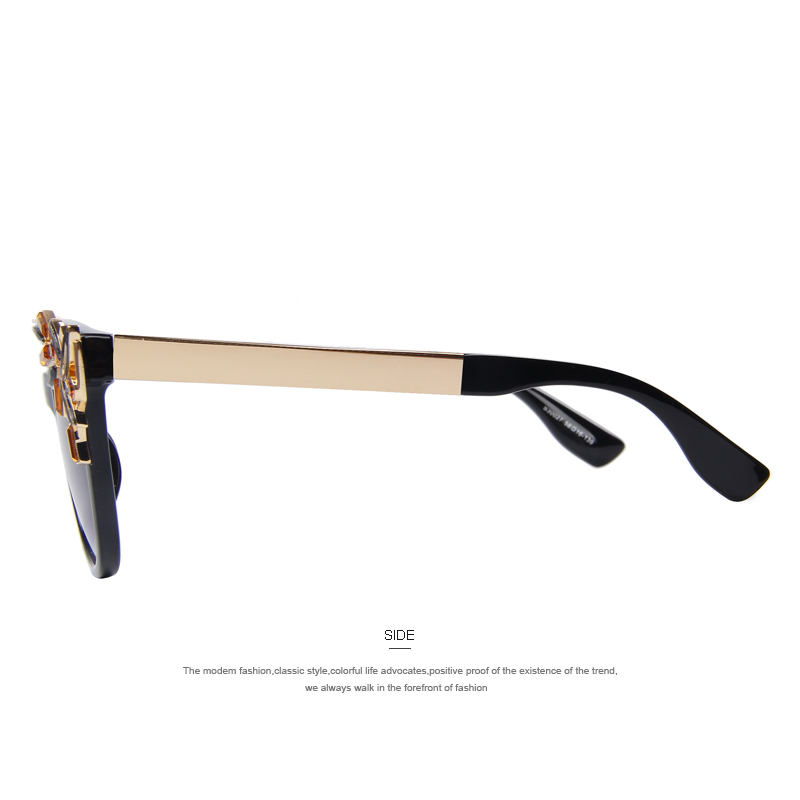 b1a398e8d9b Aliexpress.com   Buy MERRY S Fashion Cat Eye Sunglasses Women Vintage Brand  Designer Crystal Diamond Frame Sun glasses for women UV400 S 8053 from  Reliable ...