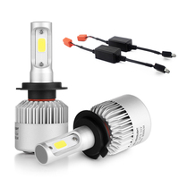 2PC 72W 8000LM Super Bright Car Headlights Cree Chip H7 LED Canbus 6500k Pure White For