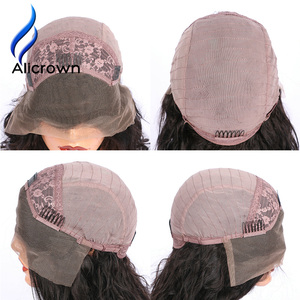 Image 5 - Alicrown Straight Lace Front Human Hair Wigs Free Part Middle Ration Hair Wig 13*4 Pre Plucked Hairline Non  Remy 130Density
