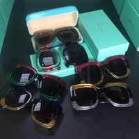 66a5c3989 Oversized Square Sunglasses Women Men Brand Designer Retro Frame Sun Glasses  For Female Green Red Oculos