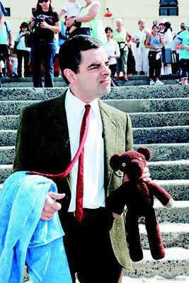 23-52 centimetri Mr Bean Orso di Orsacchiotto Bambola Animale Farcito Giocattoli di Peluche Marrone Figura Del Capretto Regalo Di Compleanno Di Natale Veloce trasporto libero