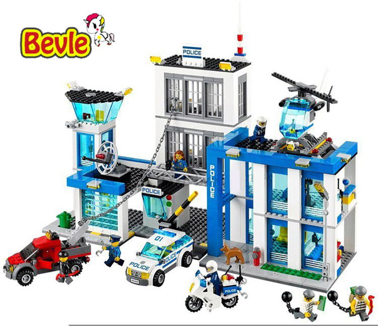 Bevle Bela 10424 Urban City Police Police guard Building Block Toys Compatible with LEPIN 60047 compatible lepin city block police dog unit 60045 building bricks bela 10419 policeman toys for children 011
