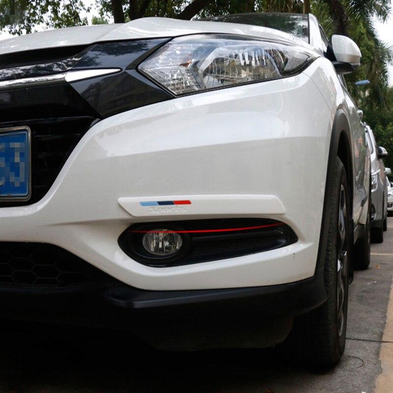 TPVC Car Bumper Strip Exterior Front Bumper Lip Protector Sticker Black  JF#E