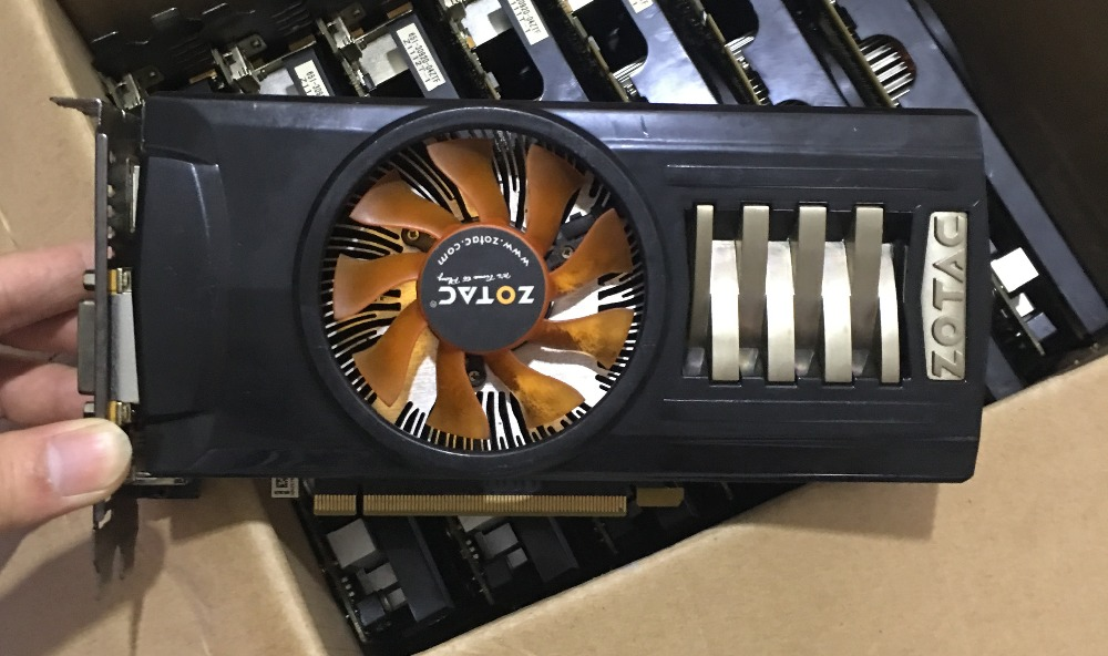 ФОТО 100% of the original components for ZOTAC NVIDIA GTX460 768M 192bit DDR5 PCI-E graphics card game