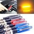 4 PCS Universal 12V 1.3W Super Bright Motorcycle Motorbike LED Turn Signal Indicators Amber Blinker Light Lamp