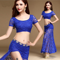 New Adult Lace Oriental Belly Dance Costumes Set For Women Bellydance Indian Dancing Clothes Dancewear Cropped
