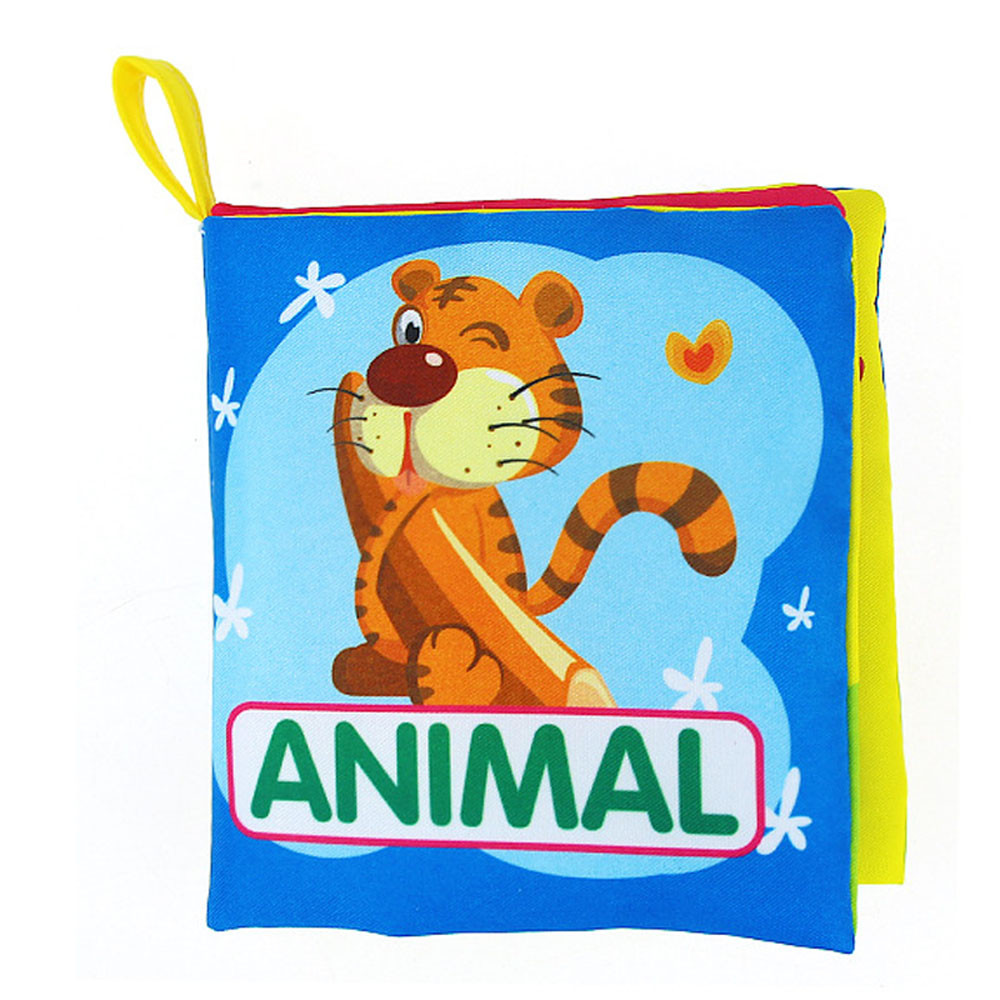 Kids Baby 2018 colourful Cartoon Cloth Book Animal Soft Baby Learning Educational Toy Story Intelligence Developing Animal Toy стоимость