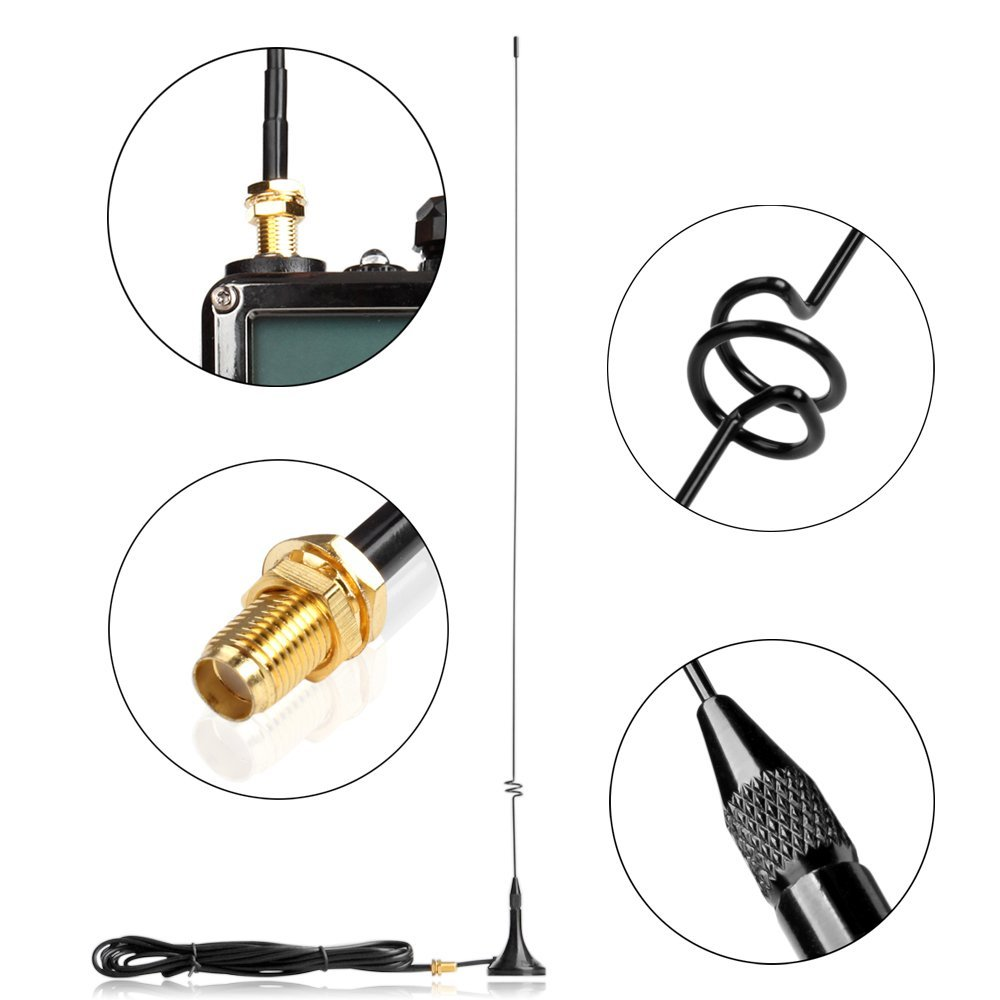 Baofeng Radio Car Antenna UT-108UV Gain Antenna SMA-F UHF VHF Magnetic Stand For Walkie Talkie UV-5R BF-888S UV-5RE UV-82
