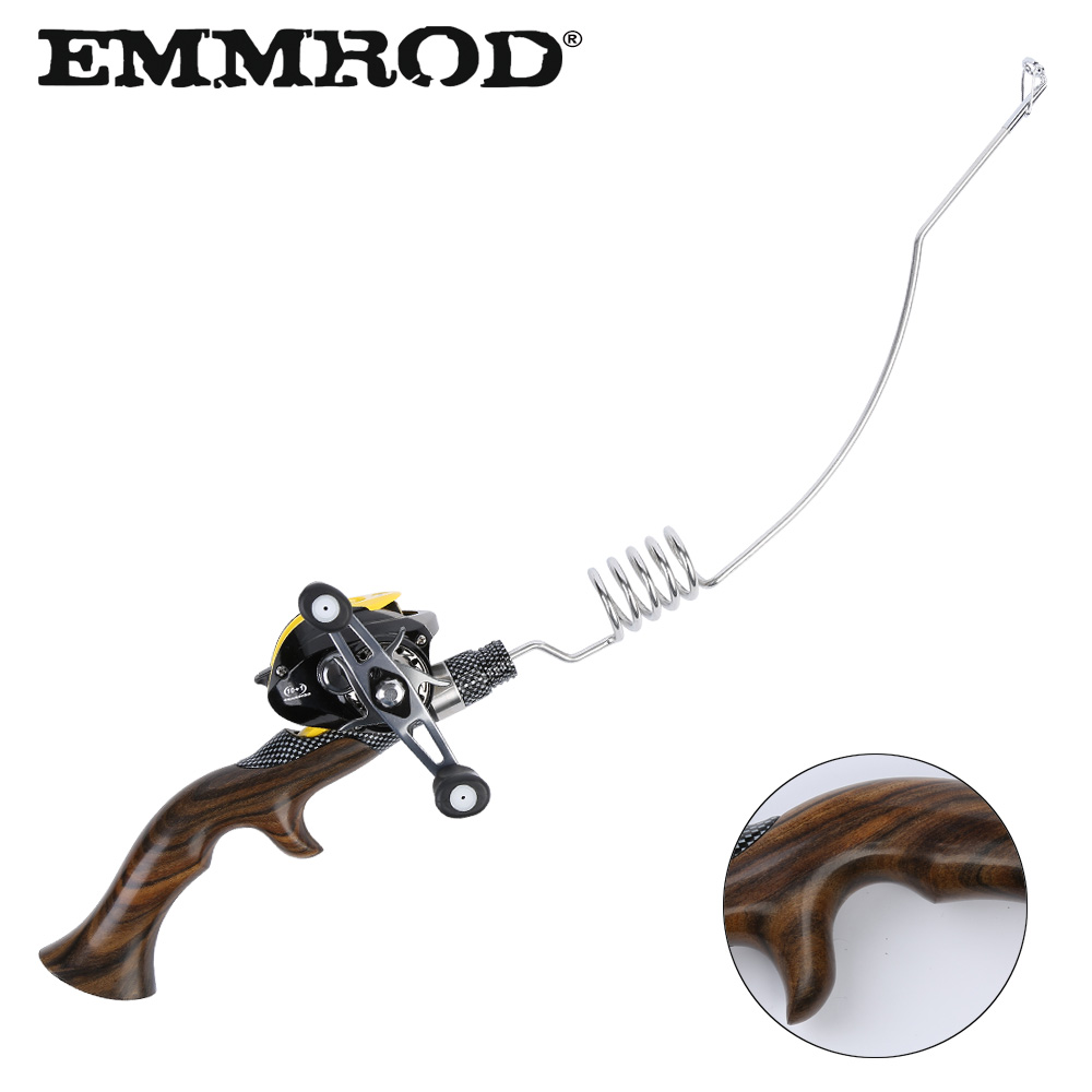 Handmade NEW Emmrod Ebony Handle Portable Bait Casting Fishing Rod Set Ocean Boat Raft Fishing Rod Telescopic Rod FQ-WD