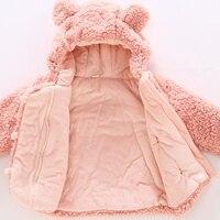 Baby jas Winter Baby Meisjes Kleding pasgeboren warm snowsuit bovenkleding bebe hoodie bont dikke peuter kinderen jongens Sneeuw Jas 5
