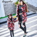 Autumn Winter baby mom family matching clothes casual mother daughter dresses fashion family matching outfits Camouflage coat