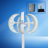 200W 12v 24V Small 3 Phase AC Permanent Magnet Vertical Wind Turbine Generator with controller and inverter for 1000w