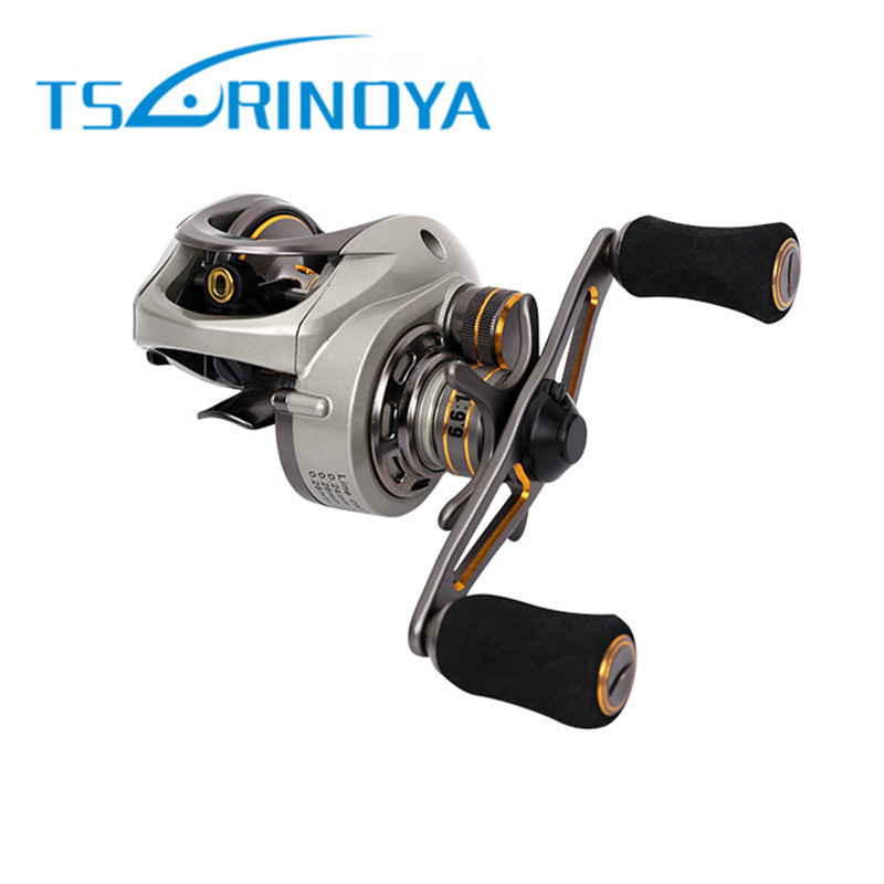 Trulinoya Bait Casting Lure Fishing Reel Magnetic and Centrifugal Double Brakes System Suit for Freshwater and Salwater Fishing