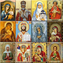 DIY painting diamond embroidery religious icons diamond painting cross stitch diamond mosaic religion painting rhinestones fc302 zooya diy 5d religion diamond painting icons diamond embroidery icons full set sale new diamond mosaic icons free shipping 6zj01