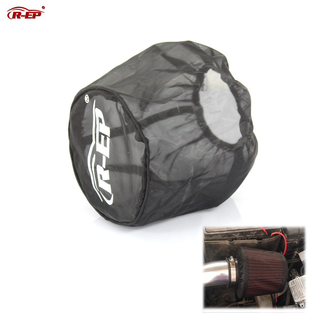 R-EP Universal Air Filter Protective Cover Dustproof Waterproof Air Filter Mask Oilproof For High Flow Air Intake Filters Black