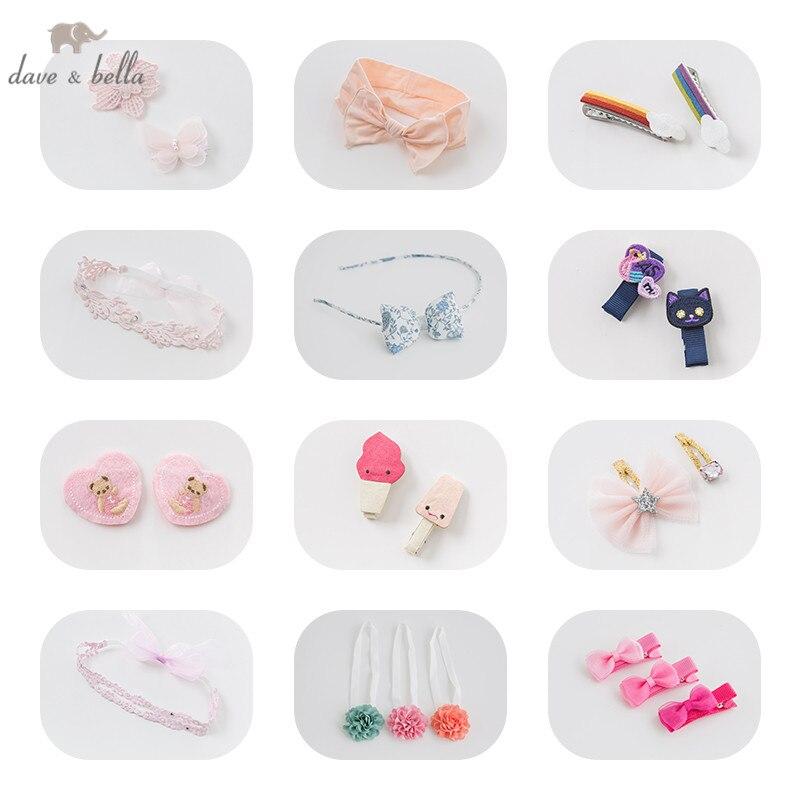 DB7478 Davebella  Girls Headwear Pink Feathers Barrettes