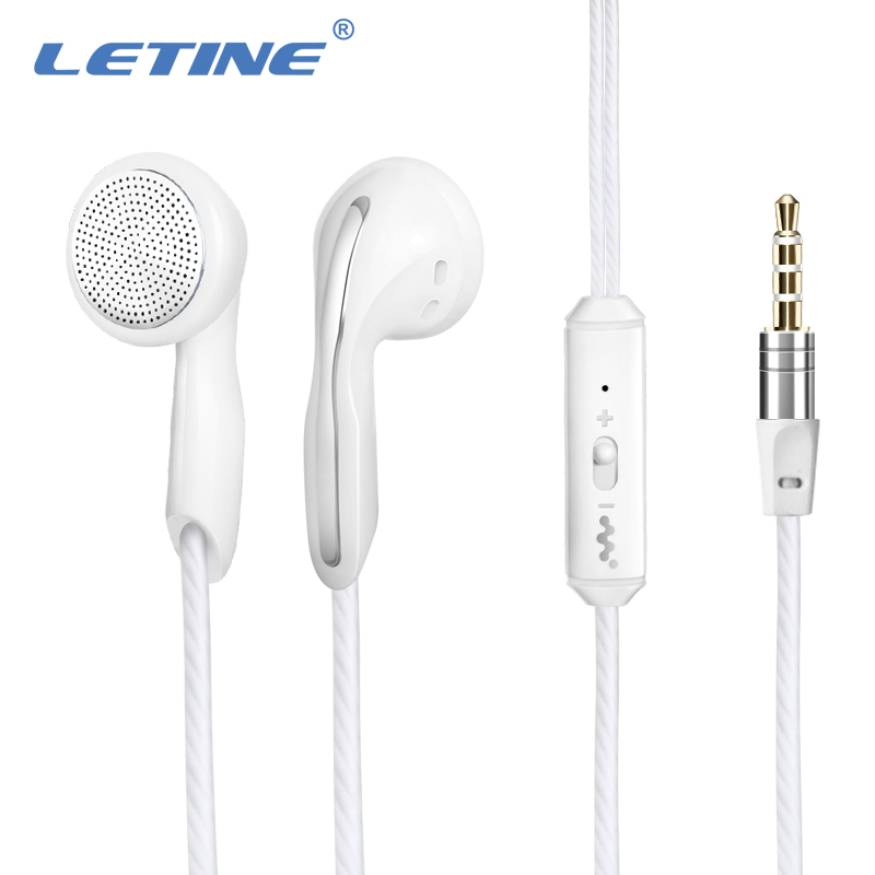 Letine Stereo Wired Earphone in-earphone with Microphone Active Noise Cancelling for Apple iPhone the Phone PC for Girls Sport
