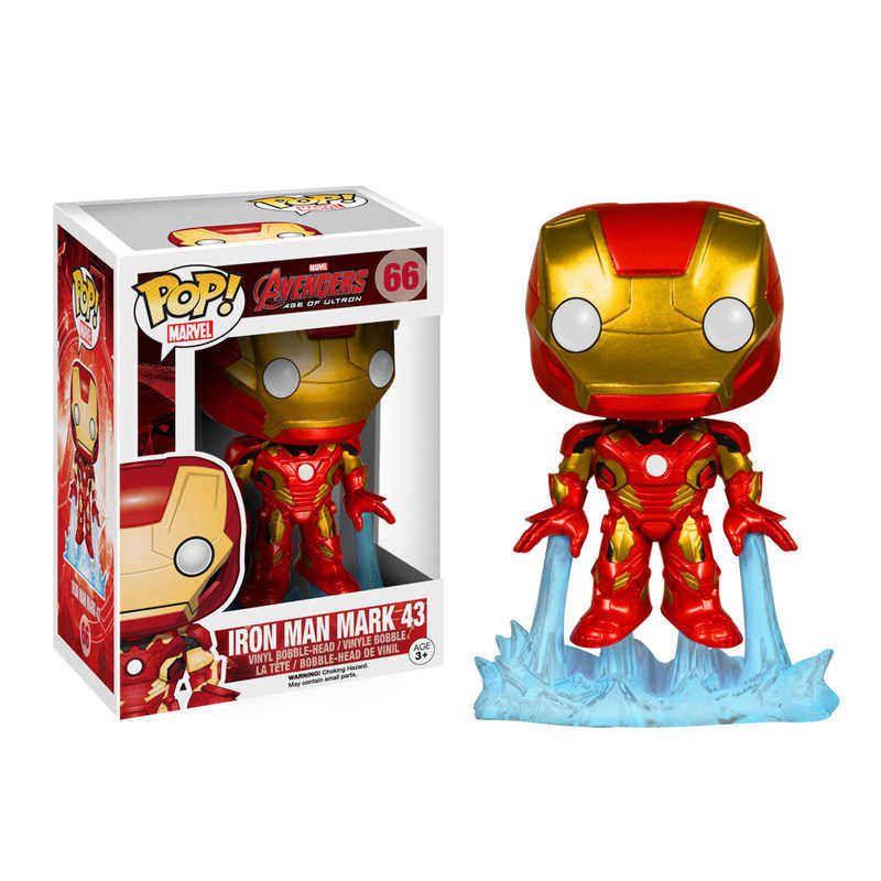 FUNKO POP Marvel Movie Avengers: Endgame IRON MAN 66# Action Figure Collection Model Toys for Children Christmas Gift With box
