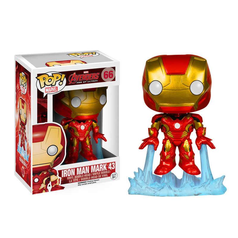 Funko pop Marvel Фильм Мстители: эндигра Железный человек 66 # экшн фигурка Коллекция Модель игрушки для детей Рождественский подарок с коробкой