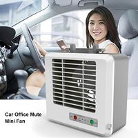 Car Office Mute Mini Fan Home Energy Saving Built in Lithium Battery USB Charging Strong Refrigeration Cool Air Conditioning Fan