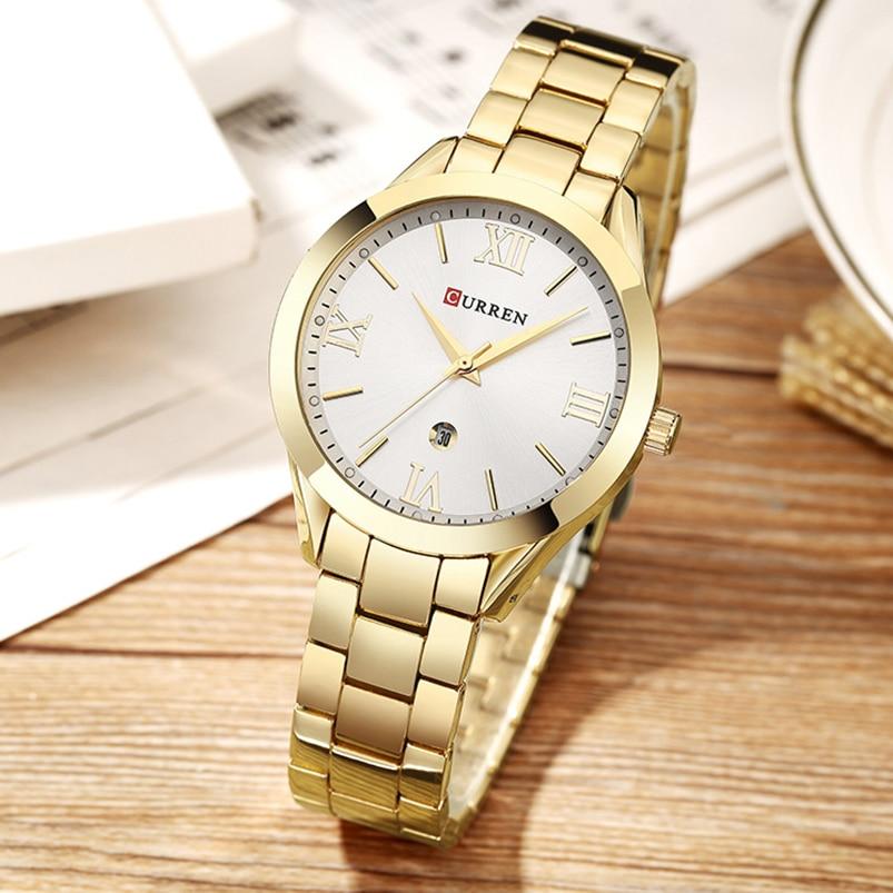 Sieraden Cadeaus voor Dames Luxe Goud Staal Kwarts Horloge Curren - Dameshorloges - Foto 5