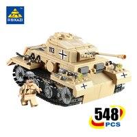 KAZI Type G NO 3 Tank Blocks Model Military Bricks Brinquedos Educational Toys For Children 6