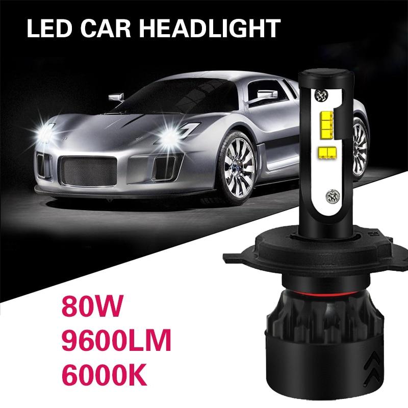 Светодиодный фонарь H4/HB2/9003 супер яркие светодиодные фары на замену Передняя Светодиодная лампа высокой Мощность автомобиля