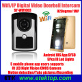 WIFI IP video doorphone wireless video doorbell intercom ,support Android and IOS operation system,support motion detect alarm