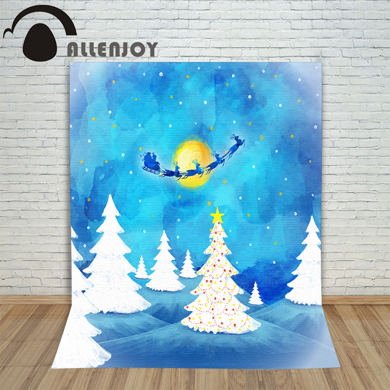 Allenjoy photography backdrops tree watercolor winter blue kids photocall vinyl baby shower photo props christmas backgrounds allenjoy photography backdrops floor mosaic texture red sand kids photo backgrounds vinyl photocall professional fabric simple