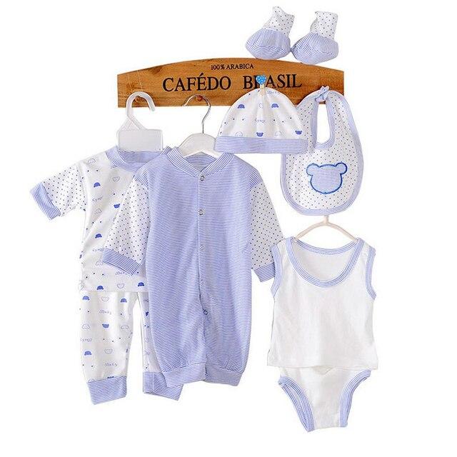 8 ШТ. младенческой одежды 0-3Months костюм новорожденный мальчик одежды дети Хлопок костюм новорожденного малыша девушка одежда детские наборы
