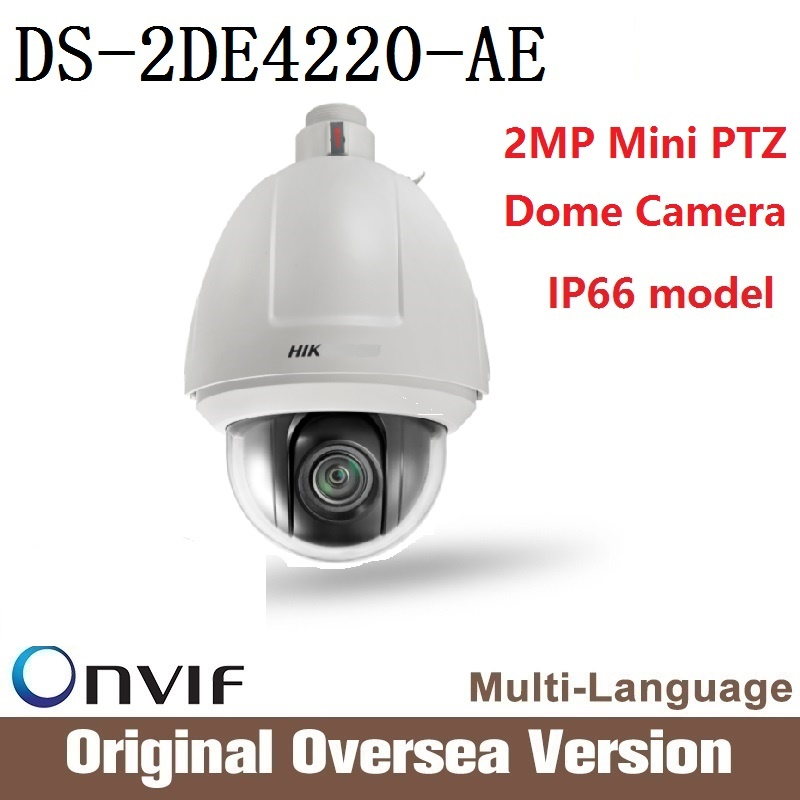 Hikvision  2MP Dome Camera DS-2DE4220-AE 2 Megapixel Mini PTZ Dome Network Camera Outdoor Real-time resolution POE CMOS upgrade hikvision ds 2de7230iw ae english version 2mp 1080p ip camera ptz camera 4 3mm 129mm 30x zoom support ezviz ip66 outdoor poe