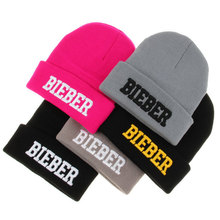 Beanies for men,Winter hats for women,Unisex knitted Beanie Hat 'BIEBER' Vogue caps, Skullies 3D Embroidery Acrylic 245B6