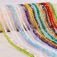 3mm 4mm 6mm Bicone Austria Faceted Crystal Beads Glass Beads Loose Spacer Beads For DIY Jewelry Making(China)