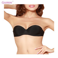 Coromose New Sexy Push Up Seamless Bra Backless Wedding Bralette Strapless Invisible Women Underwear