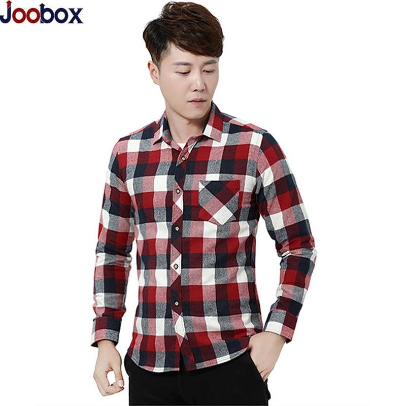 2018 New Mens Long Sleeve Plaid Shirt Men Slim fit Comfortable Soft Work Casual Flannel Shirts Camisa Social Masculina S-4XL