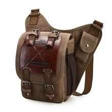 BERAGHINI брендовые кожаные украшения Винтаж Для мужчин через плечо сумки мужской Малый Слинг Сумка Холст Военные седельная сумка