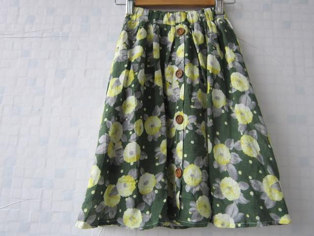 Wholesale Brand 5 Pieces/Lot flower summer green skirt cotton girls long skirt floral girls clothes 3 4 5 6 7 8 9 10 11 12 years