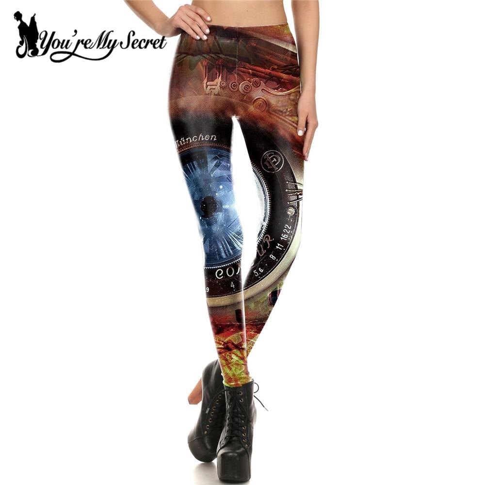 [You're My Secret] Super Bell Leggings Women Fitness Steampunk Leggings Digital Print Leggins Women Workout Mujer Sexy Pants