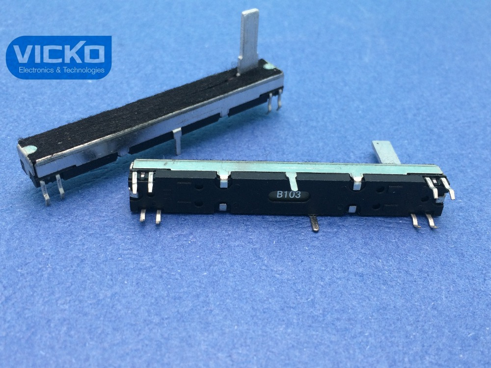 VK Black mixer 6CM 60mm B10K B10KX2 B103 double clipper potentiometer handle 15MMC 15MM switch