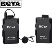 BOYA BY-WM4 Wireless Lavalier Microphone system for Canon Nikon Sony Panasonic DSLR Camera Camcorder iphone android smartphone
